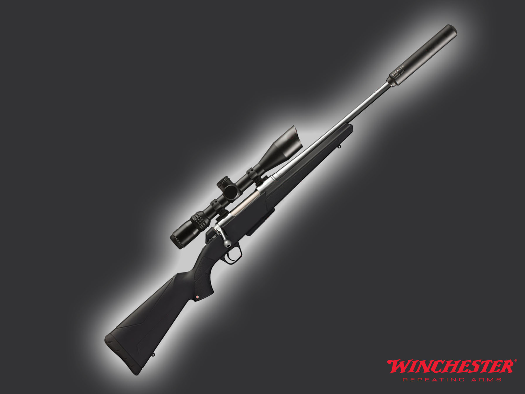 Winchester XPR Cerakote Suppressed Bolt Action Rifle Package 32 Rem